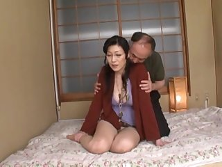 Mature Japanese wife Yuuko Sakurai gets fucked by her scrimp