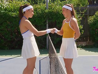 Tennis court competitors Paige Owens and Liv Wild hook up make sure of a match