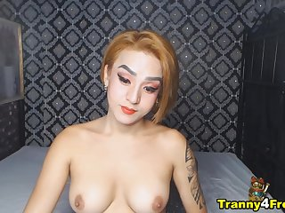 Rich brighten Tits Shemale Plays Her Hard Dick