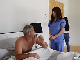 Horny nurse wants man's dick for a bit of word-of-mouth fun