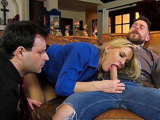 Hubby watches how his wife goes full mode in cuckold