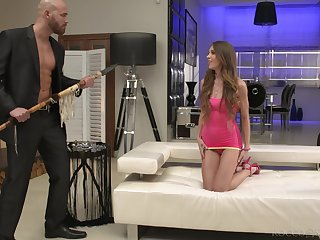 Brutal big panhandler fucks ass hole of slender babe Veronica Clark
