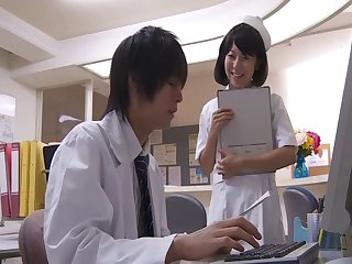 Natural piecing together nurse Misaki Honda drops her panties be worthwhile for hot sex
