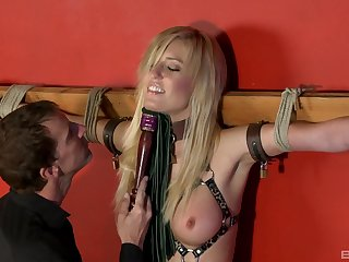 Sexy slave unspecific Victoria Blanched tied up increased by rough frowardness fucked