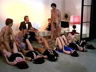Vintage sex orgy counterfeit with horny company be advantageous to girls