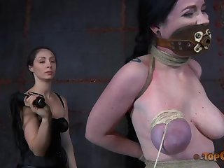 Inside slut tied up busty Sybil Hawthorne to torture their way