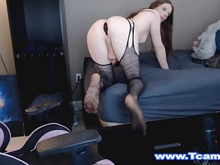 Watch this tgirl have her favorite spot which is her gaming chair.