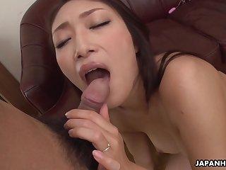 Japanese wife, Reiko Kobayakawa sucks cock, unc