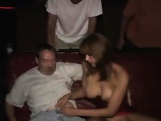 Insane risky public gangbang no condoms