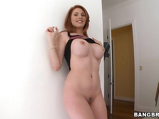 Amazing chick Lilith Lust strips down and teases with say no to boobs