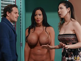 Free For All Dear one Sex Doll Surprise Threesome adjacent to Tyler Nixon and Sybil Stallone