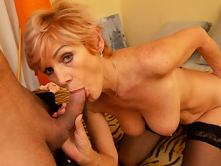 MATURE4K. Sweet mature woman with dyed hair