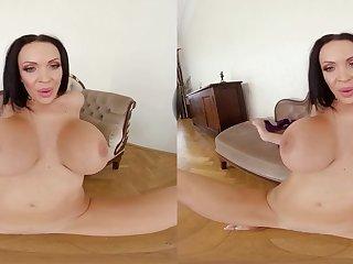 POV VR bitch - solo striptease with a pornstar