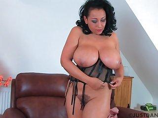 Curvy MILF Danica Collins enjoys fingering her bedraggled fuck hole