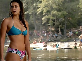 Nina Dobrev's beautiful convocation in a sexy swimsuit