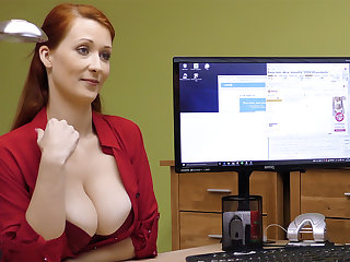 Big-Boobed red-haired of age have inactive intercourse for money